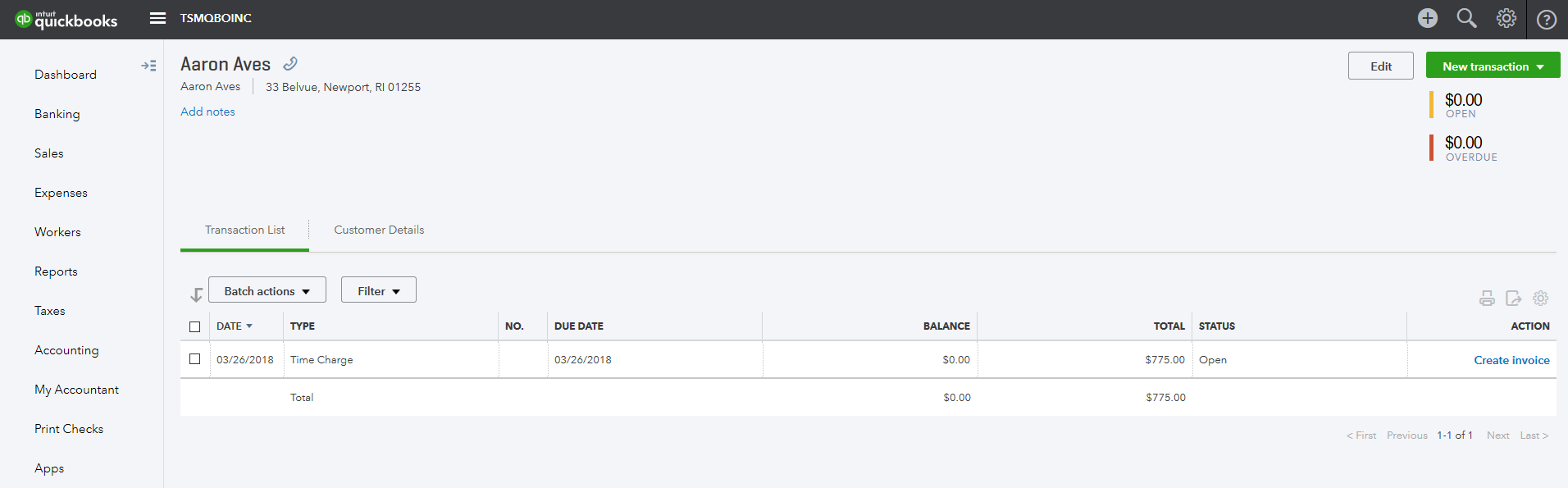 Importing billable time to QuickBooks Online – Timesheet Mobile