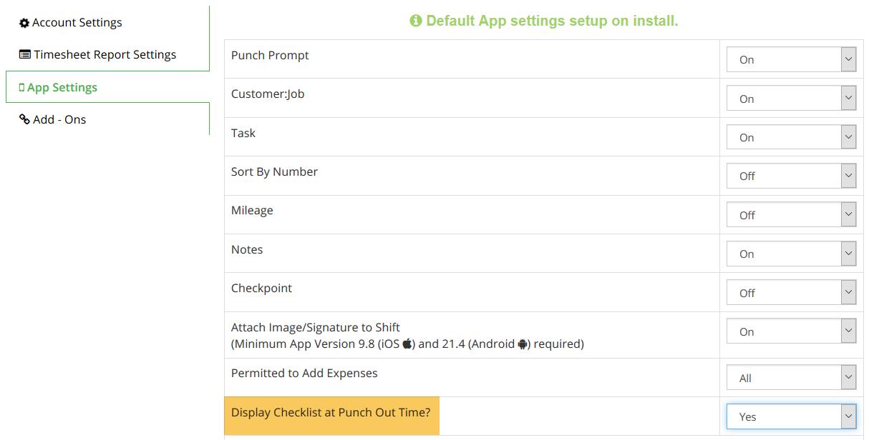 individual job check lists timesheet mobile